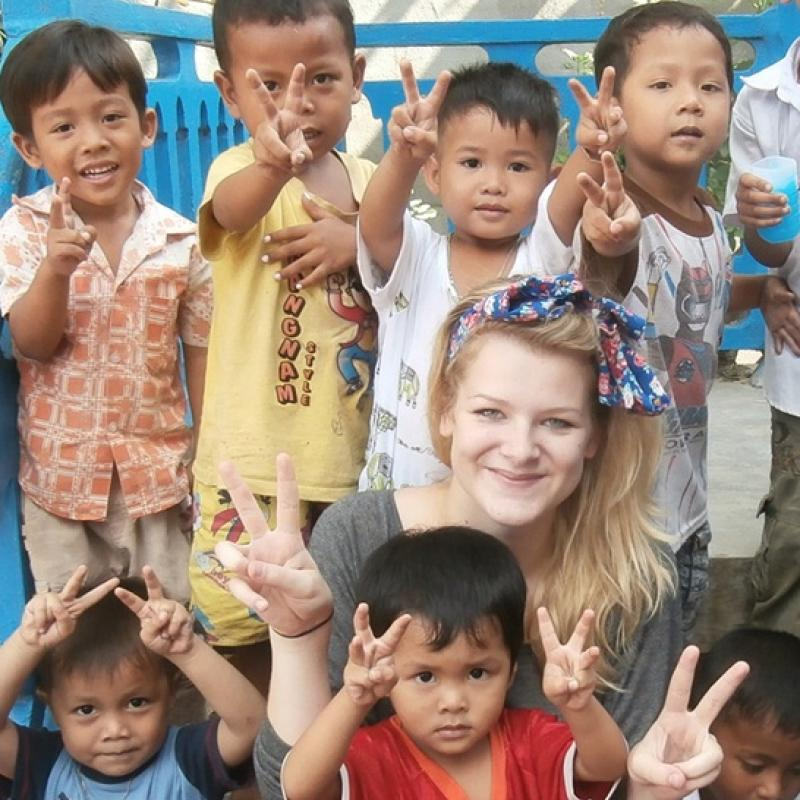 Lucy M in Cambodia